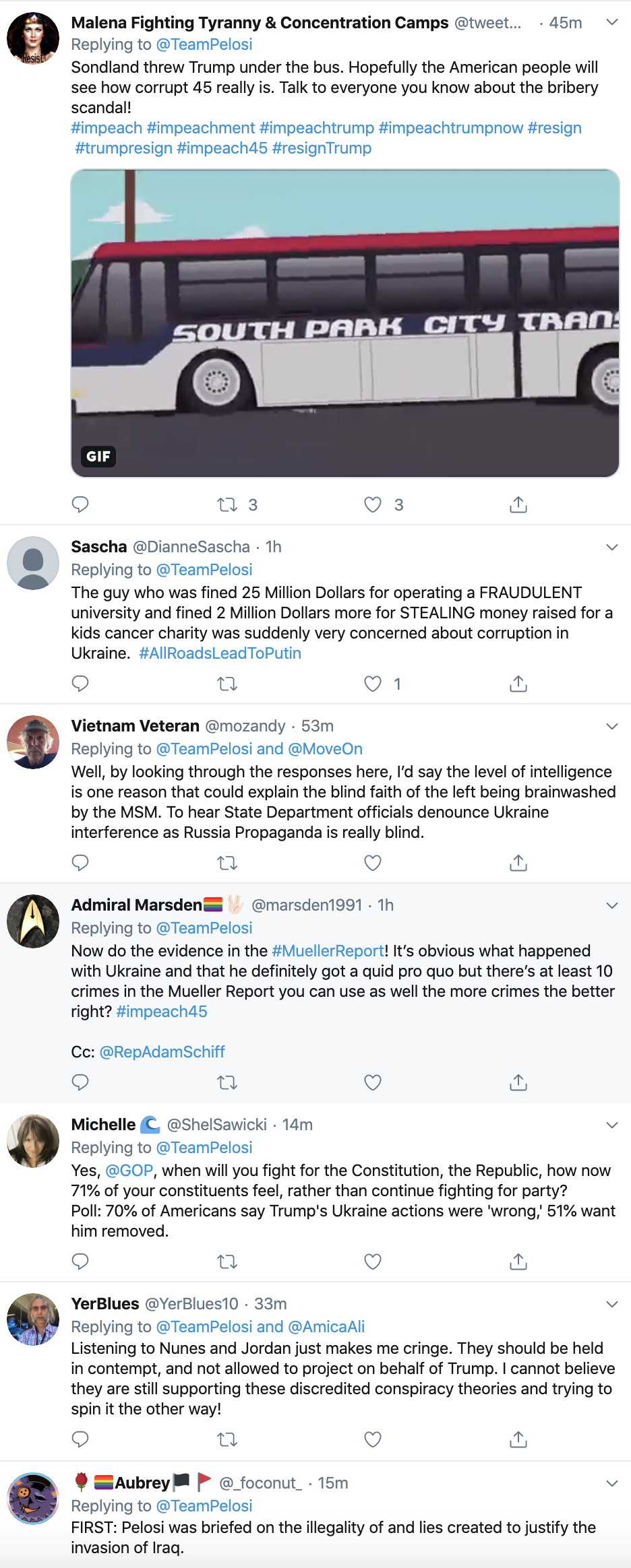 Screen-Shot-2019-11-21-at-9.23.46-AM Pelosi Takes Trump Down On Twitter After Witness Tampering Tweet Corruption Crime Featured Impeachment Top Stories