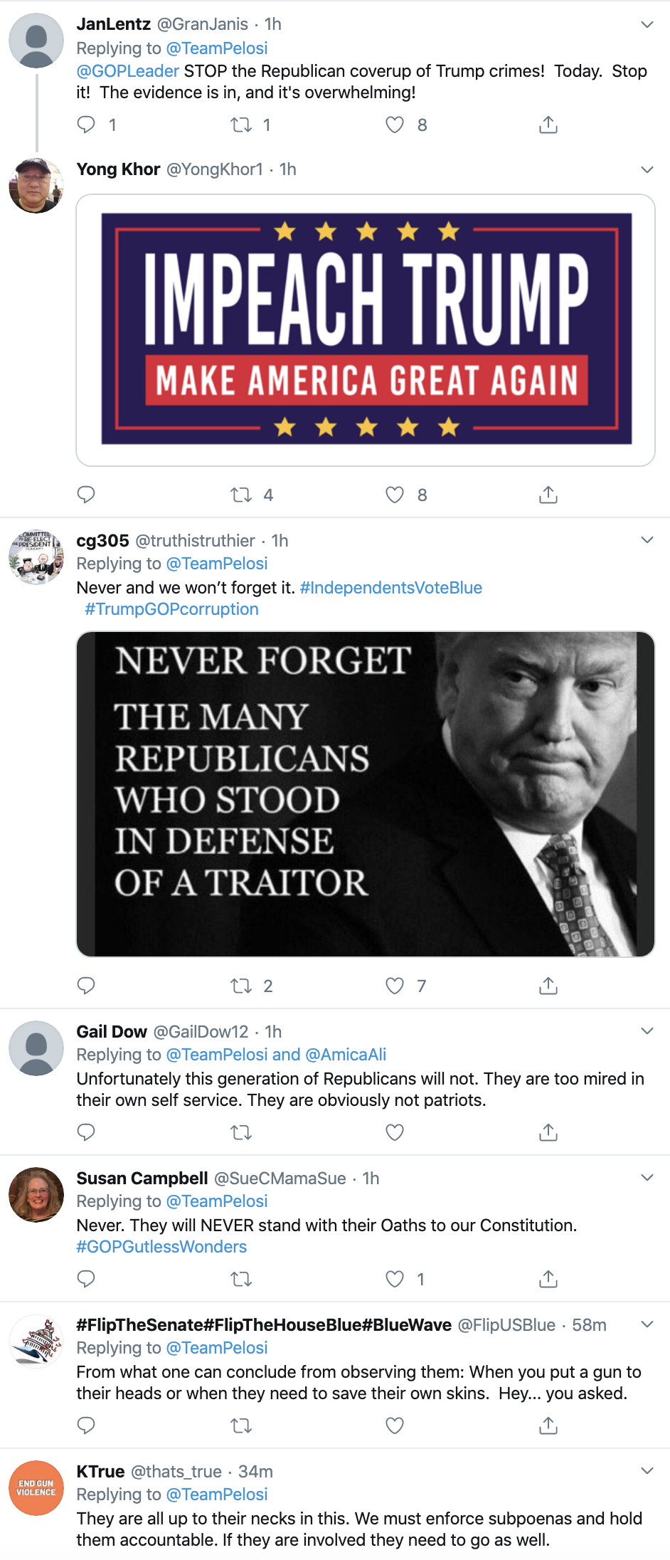 Screen-Shot-2019-11-21-at-9.24.11-AM Pelosi Takes Trump Down On Twitter After Witness Tampering Tweet Corruption Crime Featured Impeachment Top Stories