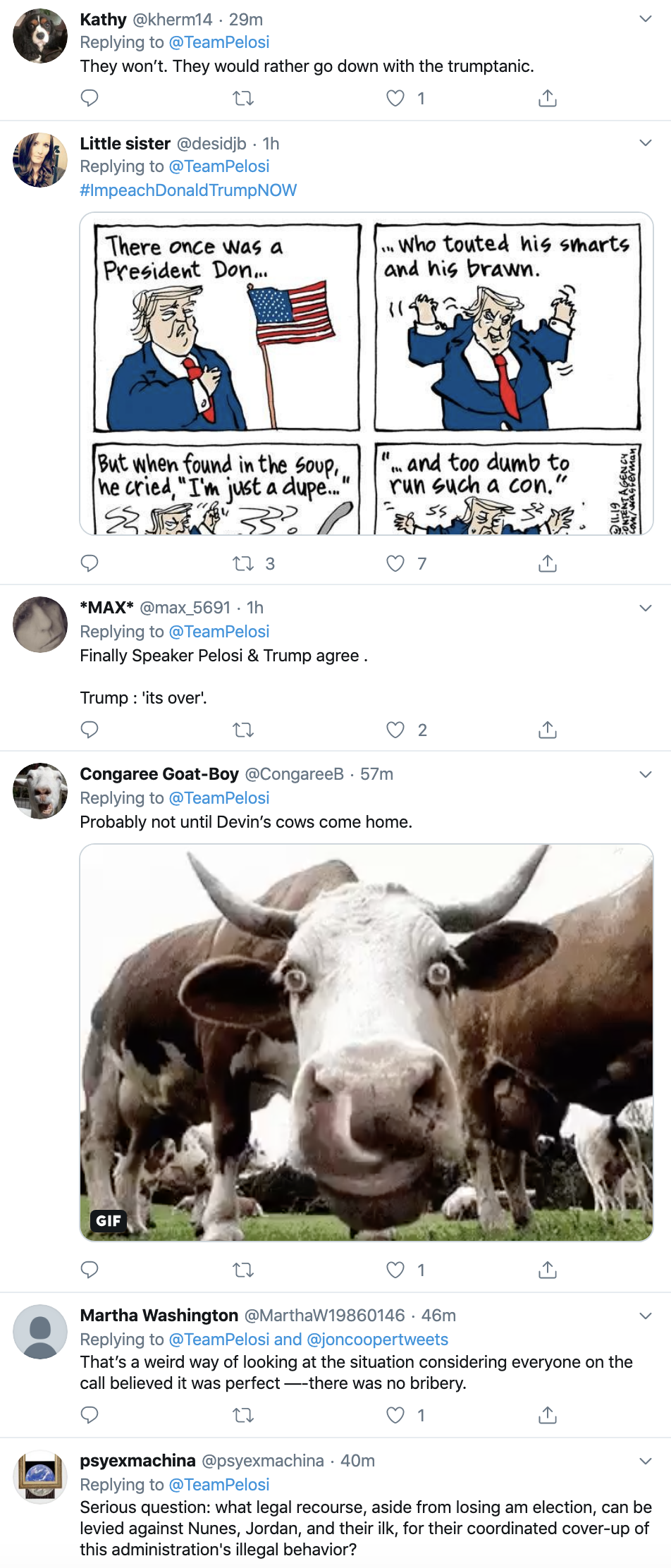 Screen-Shot-2019-11-21-at-9.24.36-AM Pelosi Takes Trump Down On Twitter After Witness Tampering Tweet Corruption Crime Featured Impeachment Top Stories
