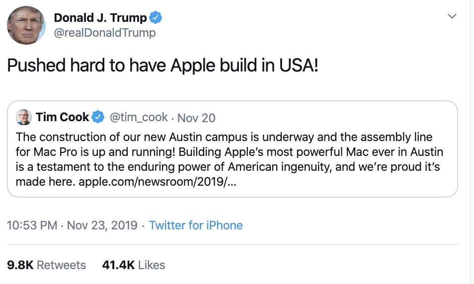 Screen-Shot-2019-11-24-at-7.10.03-AM Trump Erupts Into 4-Tweet Sunday Morning Impeachment Outburst Corruption Featured Impeachment Military Top Stories