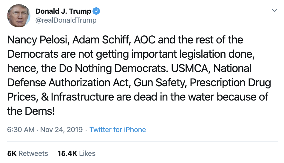 Screen-Shot-2019-11-24-at-7.12.08-AM Trump Erupts Into 4-Tweet Sunday Morning Impeachment Outburst Corruption Featured Impeachment Military Top Stories