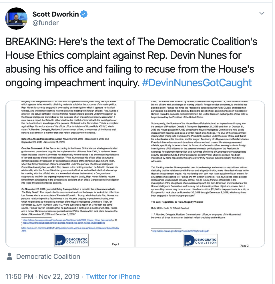 Screen-Shot-2019-11-25-at-2.38.54-PM Numbers Released For Nunes Trip To Dig Dirt On Biden Corruption Election 2020 Featured Impeachment Top Stories