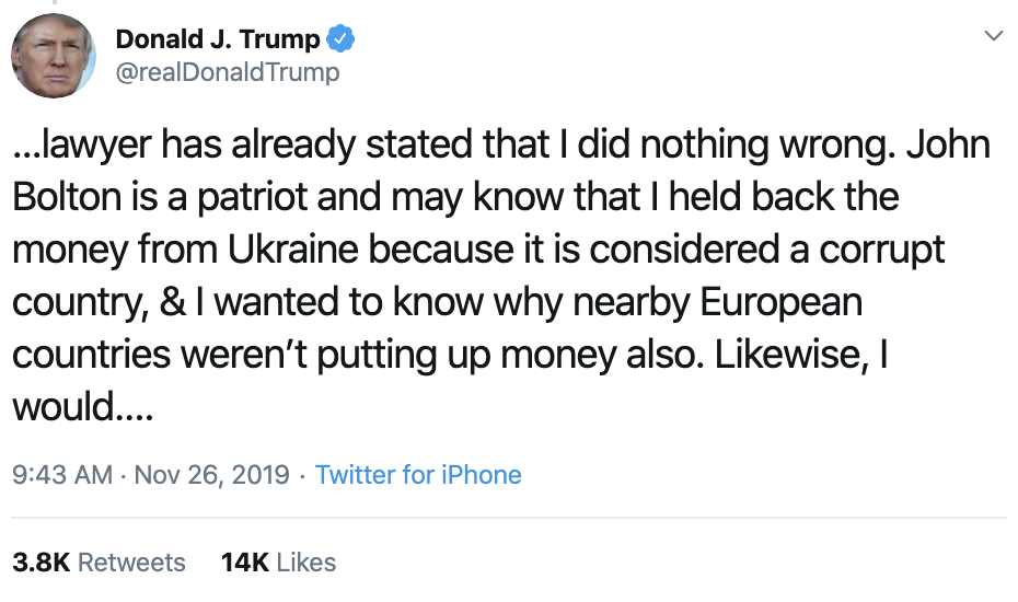 Screen-Shot-2019-11-26-at-10.44.11-AM Trump Takes To Twitter For Hilarious Mid-Morning Panic Featured Impeachment Investigation National Security Top Stories