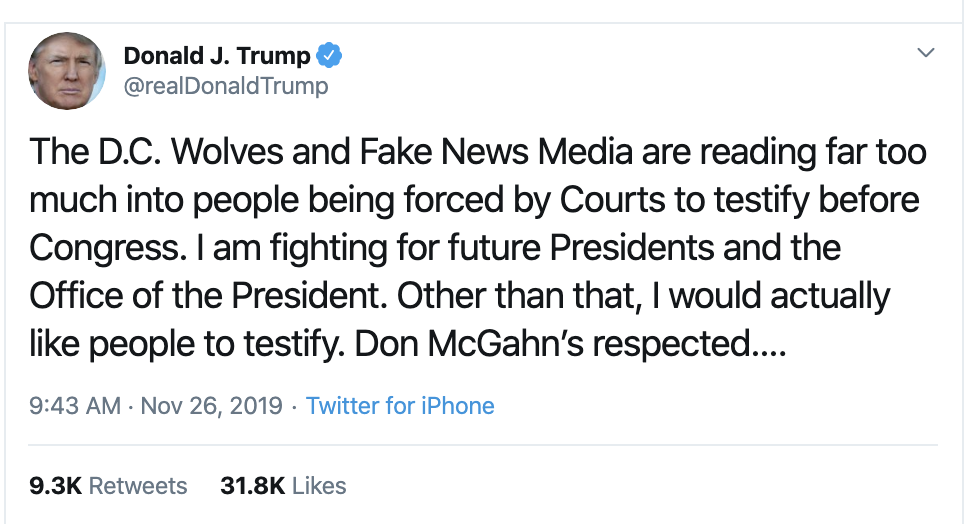 Screen-Shot-2019-11-26-at-12.08.33-PM Trump Humorously Tries To Make Himself A Martyr On Twitter Crime Featured History Impeachment Top Stories