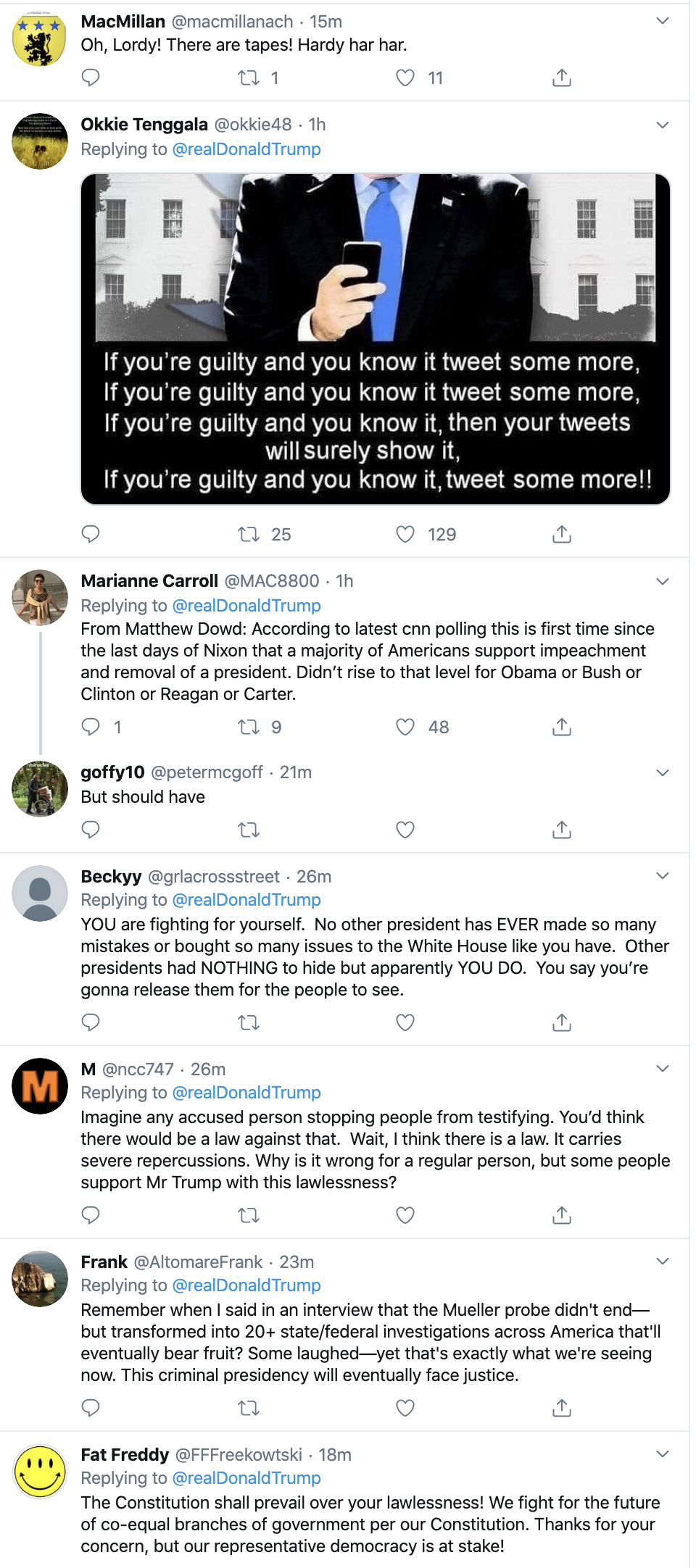 Screen-Shot-2019-11-26-at-12.10.14-PM Trump Humorously Tries To Make Himself A Martyr On Twitter Crime Featured History Impeachment Top Stories