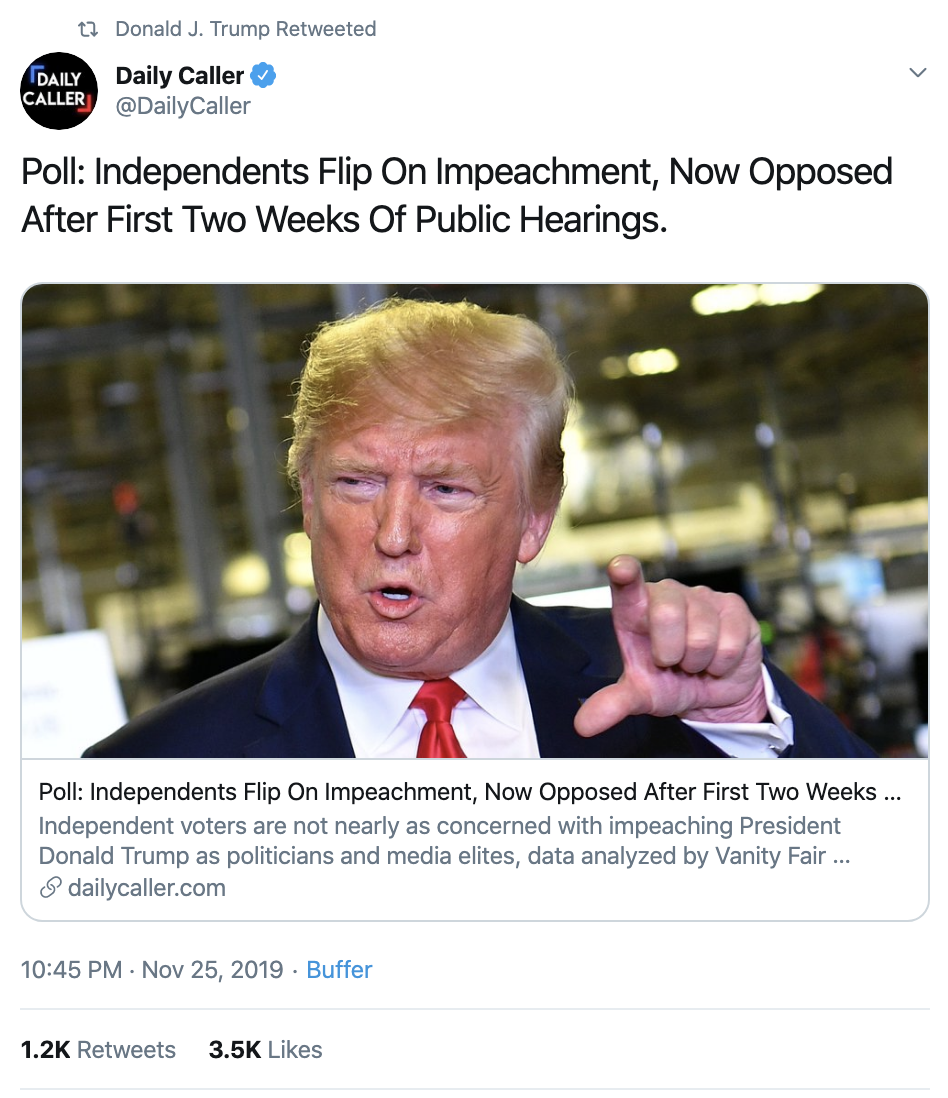 Screen-Shot-2019-11-26-at-7.16.27-AM Trump Delivers Asinine Tuesday AM Twitter Attacks Corruption Featured Impeachment Military National Security Top Stories