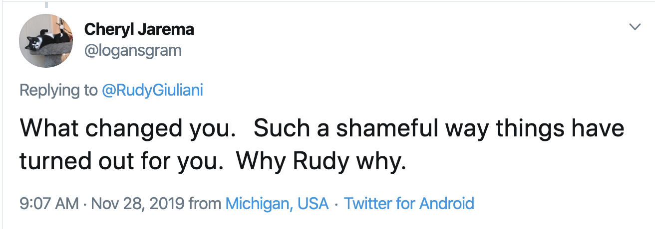Screen-Shot-2019-11-28-at-10.54.57-AM Giuliani Attempts Thanksgiving Message But Gets Rejected By America Celebrities Corruption Crime Featured Top Stories