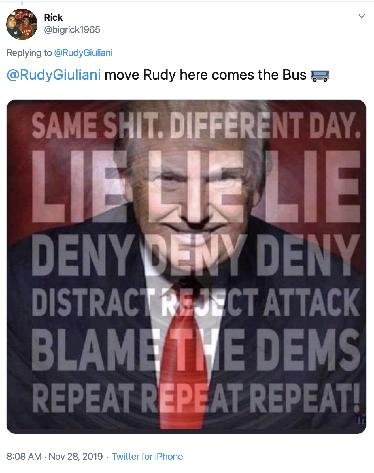 Screen-Shot-2019-11-28-at-10.55.48-AM Giuliani Attempts Thanksgiving Message But Gets Rejected By America Celebrities Corruption Crime Featured Top Stories