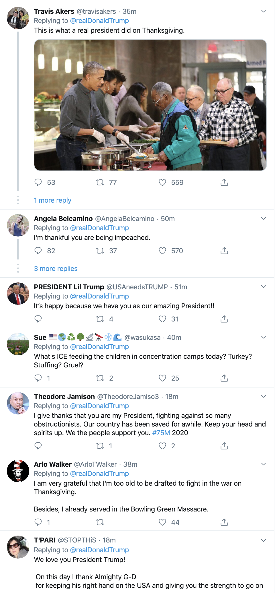 Screen-Shot-2019-11-28-at-8.13.52-AM Trump Tweets Phony Thanksgiving Message & Is Instantly Rejected Corruption Election 2020 Featured Impeachment Politics Top Stories