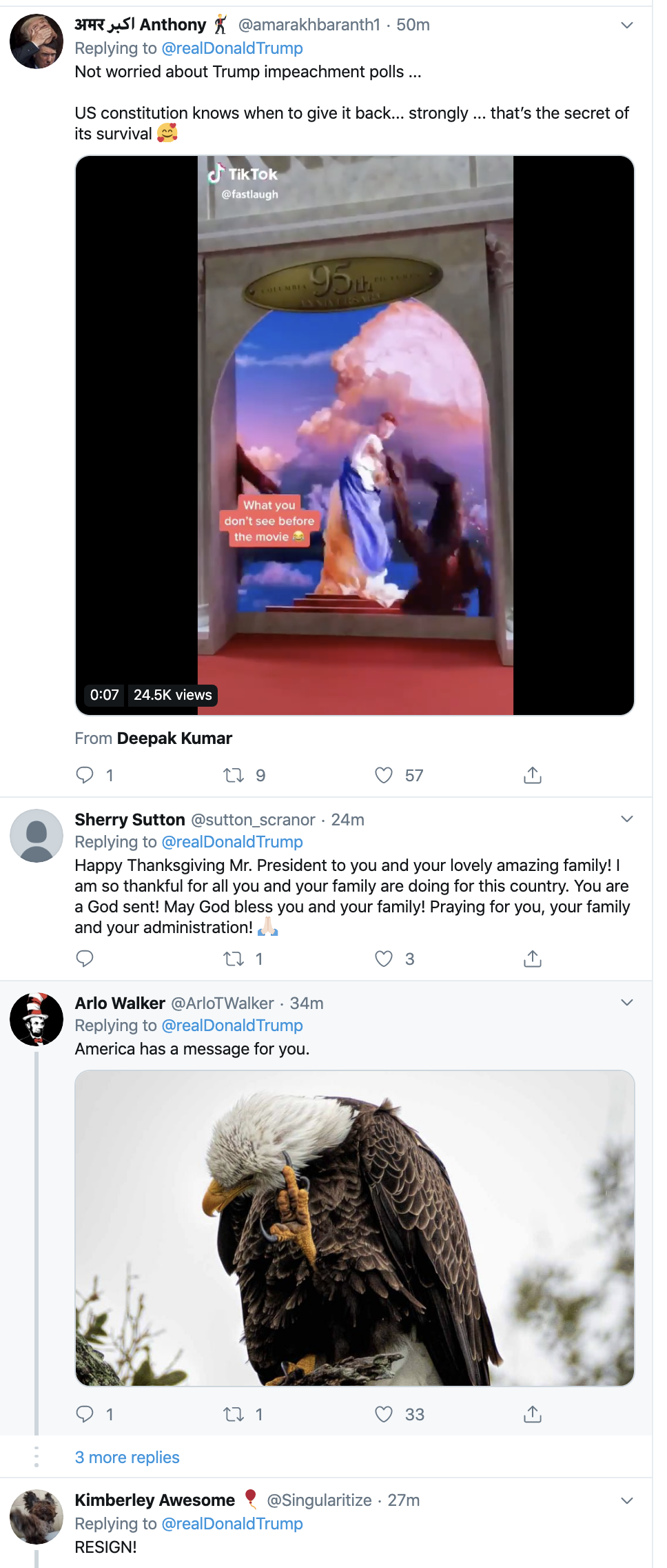 Screen-Shot-2019-11-28-at-8.14.04-AM Trump Tweets Phony Thanksgiving Message & Is Instantly Rejected Corruption Election 2020 Featured Impeachment Politics Top Stories