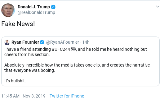 Screenshot-2019-11-03-at-1.25.18-PM Trump Finishes Sunday Shows, Tweets about Getting Booed, Then Erupts Donald Trump Politics Social Media Top Stories