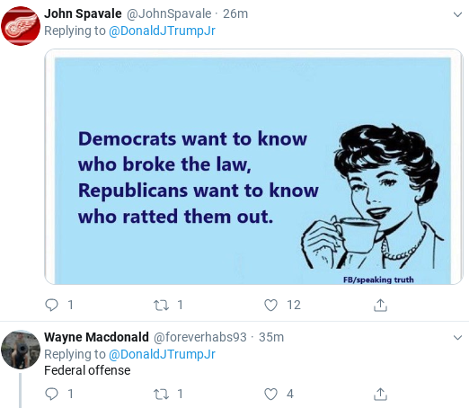 Screenshot-2019-11-06-at-12.35.49-PM Trump Jr. Appears To Regret Outing 'Whistleblower' With 2 Tweet Backtrack Donald Trump Politics Social Media Top Stories