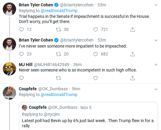 Screenshot-2019-11-10-at-2.55.55-PM Trump Finishes Sunday Shows & Has Hysterical 3-Tweet Hissy Fit Donald Trump Impeachment Investigation Politics Social Media Top Stories