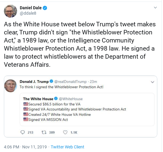 Screenshot-2019-11-12-at-10.28.11-AM Trump Claims Credit For Decades Old Laws - Gets Mocked To Death Donald Trump Impeachment Investigation Politics Social Media Top Stories