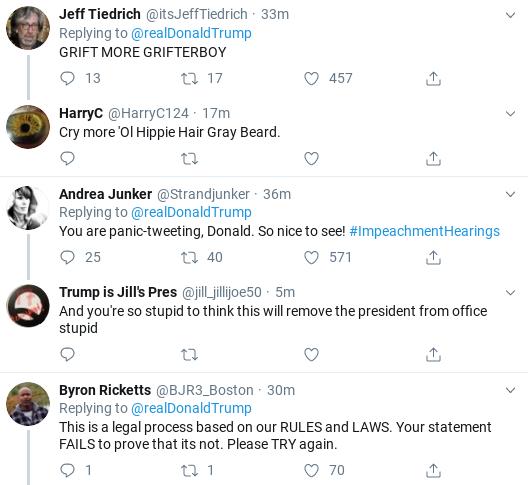 Screenshot-2019-11-13-at-12.27.32-PM Trump Tweets Belligerent Video During Impeachment Hearings Corruption Donald Trump Politics Social Media Top Stories
