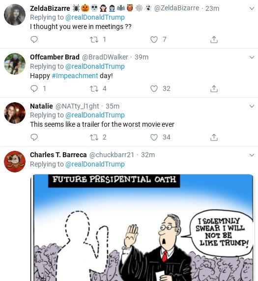 Screenshot-2019-11-13-at-12.29.56-PM Trump Tweets Belligerent Video During Impeachment Hearings Corruption Donald Trump Politics Social Media Top Stories