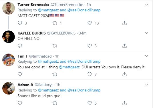 g4 Gaetz Escalates Bizarre Twitter Meltdown Over Gov's Senate Pick Donald Trump Politics Social Media Top Stories