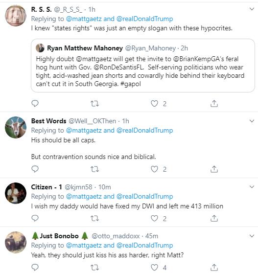 g8 Gaetz Escalates Bizarre Twitter Meltdown Over Gov's Senate Pick Donald Trump Politics Social Media Top Stories