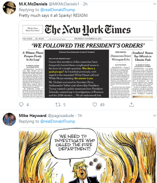 h5 Trump Tweets Desperate Afternoon Rant Over Latest Hearings Corruption Donald Trump Impeachment Investigation Politics Social Media Top Stories