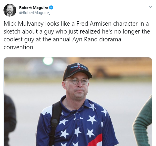 mulv Mick Mulvaney Publicly Embarrassed After Weekend Image Goes Viral Donald Trump Politics Social Media Top Stories
