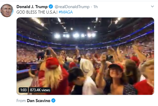 rally2 Trump Tweets Bizarre Pre-Thanksgiving Photoshopped Image Of Himself Donald Trump Politics Social Media Top Stories