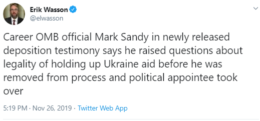sandy1 Officials Resign Over Trump's Block On Ukraine Military Aid Corruption Donald Trump Impeachment Investigation Politics Top Stories