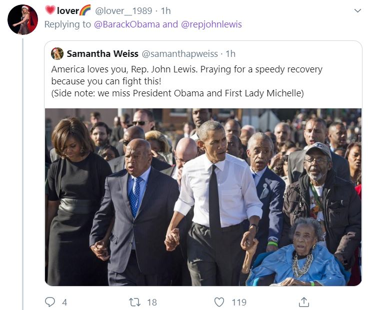 Obama5 Obama Upstages Trump With John Lewis Tribute Sunday Tweet Donald Trump Featured Top Stories