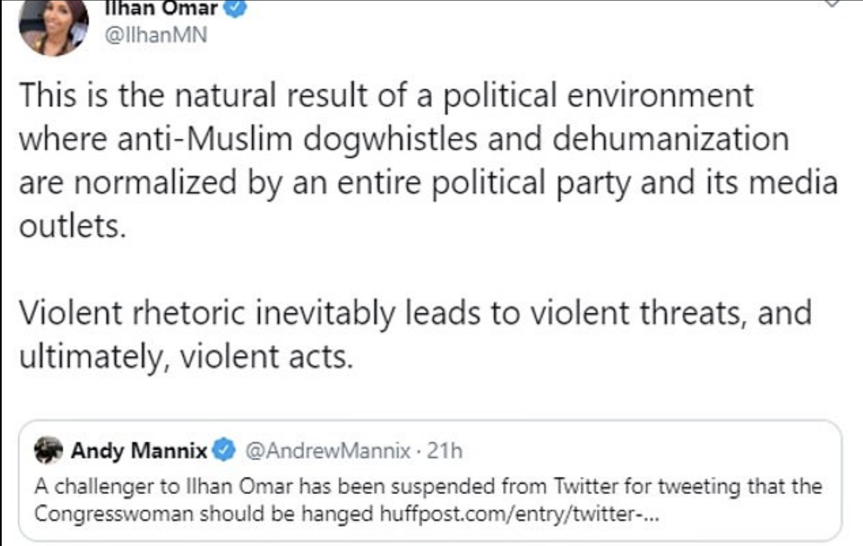 Screen-Shot-2019-12-01-at-8.20.32-AM Ilhan Omar's 2020 Opponent Suffers Humiliating Public Meltdown Featured Hate Speech Islamaphobia Top Stories White Supremacy