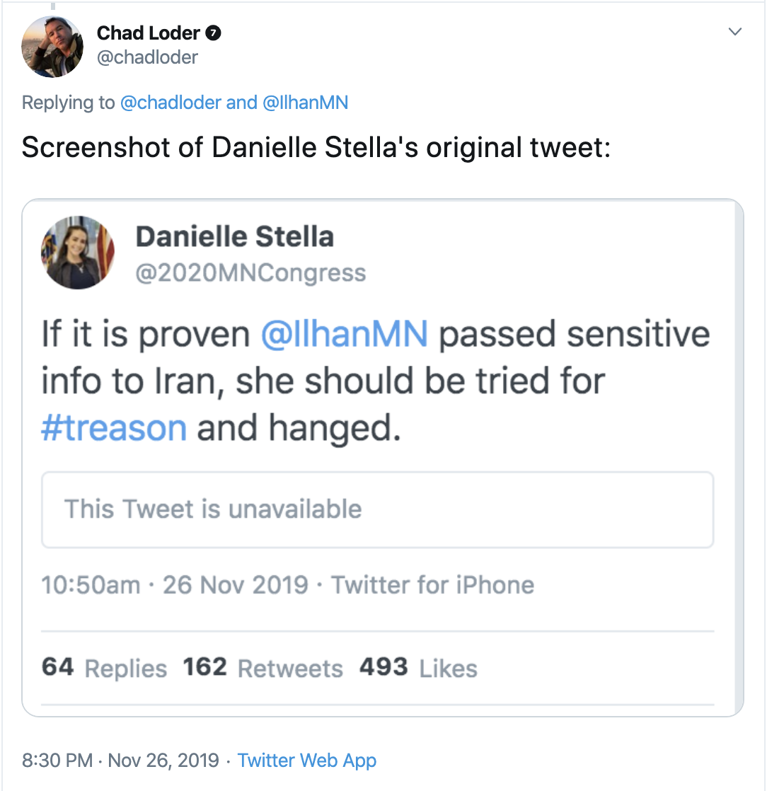 Screen-Shot-2019-12-01-at-8.24.43-AM Ilhan Omar's 2020 Opponent Suffers Humiliating Public Meltdown Featured Hate Speech Islamaphobia Top Stories White Supremacy