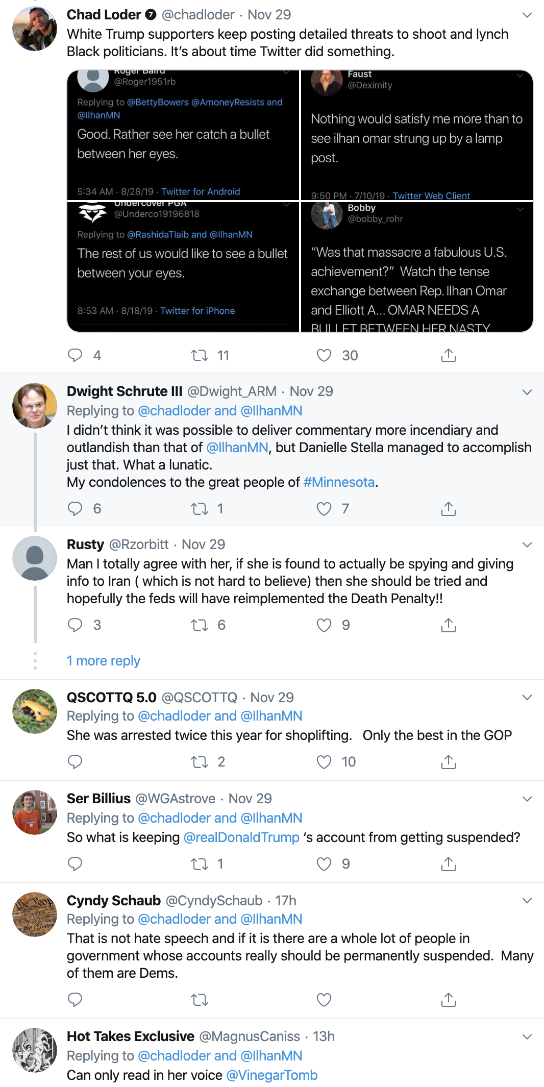 Screen-Shot-2019-12-01-at-8.25.08-AM Ilhan Omar's 2020 Opponent Suffers Humiliating Public Meltdown Featured Hate Speech Islamaphobia Top Stories White Supremacy