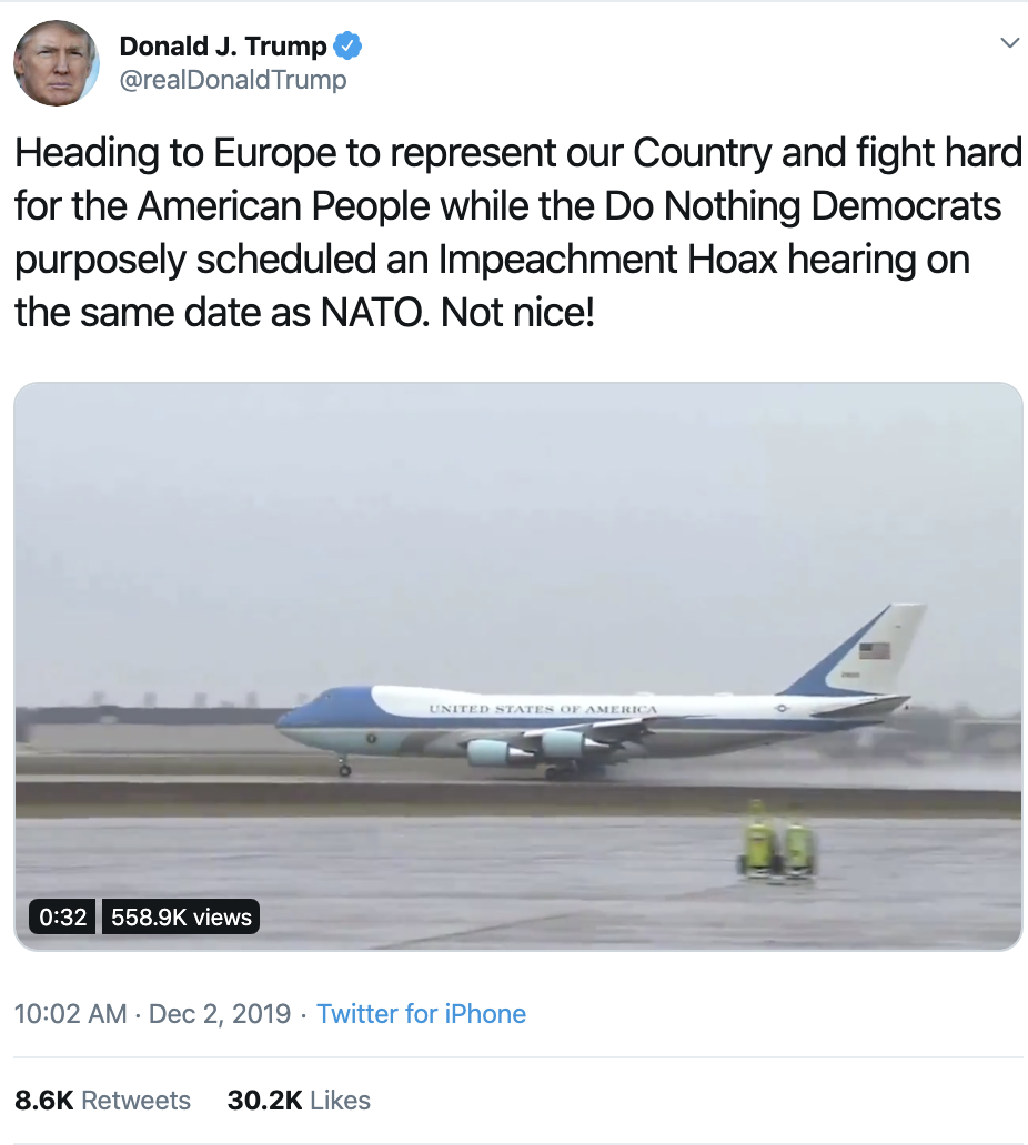 Screen-Shot-2019-12-02-at-11.19.19-AM Trump Throws Monday Impeachment Tantrum Like A Coward Corruption Featured Impeachment Investigation Top Stories
