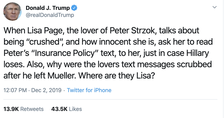 Screen-Shot-2019-12-02-at-2.34.46-PM Trump Unleashes 14-Tweet Freakout Like A Guy With Poor Work Ethic Corruption Featured Foreign Policy Impeachment Top Stories