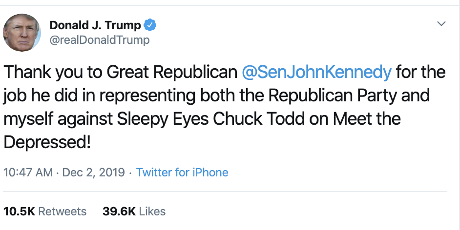 Screen-Shot-2019-12-02-at-2.39.06-PM Trump Unleashes 14-Tweet Freakout Like A Guy With Poor Work Ethic Corruption Featured Foreign Policy Impeachment Top Stories