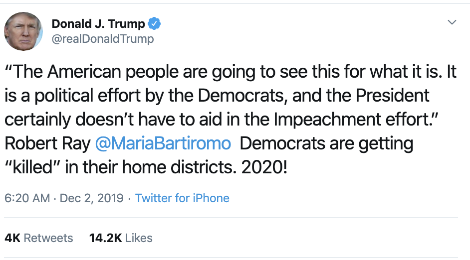 Screen-Shot-2019-12-02-at-7.25.41-AM Trump Flies Into Chaotic AM Post-Thanksgiving Break Twitter Fiasco Economy Featured Impeachment Investigation Top Stories