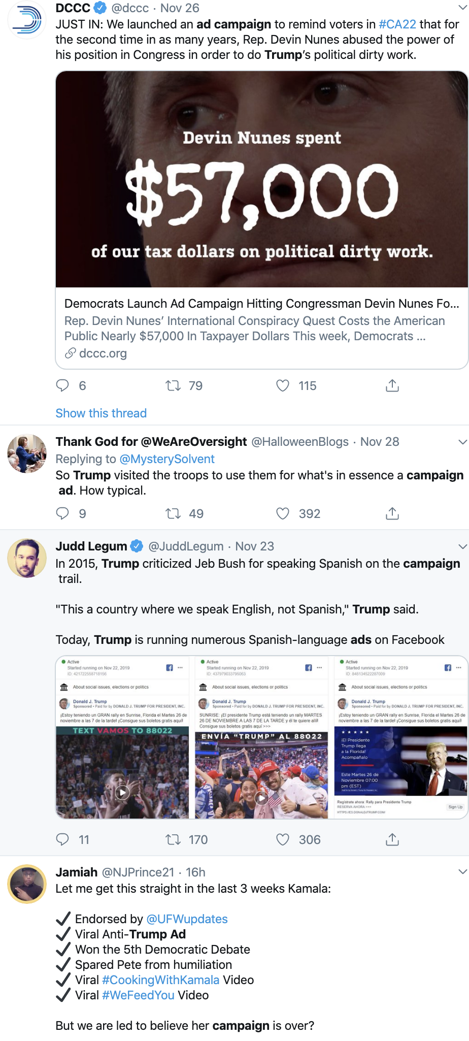 Screen-Shot-2019-12-02-at-8.56.15-AM YouTube Removes 300+ Trump 2020 Advertisements Featured Media Social Media Television Top Stories