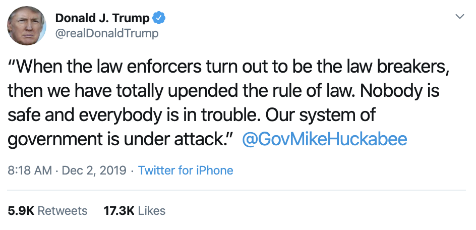 Screen-Shot-2019-12-02-at-9.07.57-AM Trump Continues Monday Morning Absurdities On Twitter Corruption Featured History Impeachment Top Stories