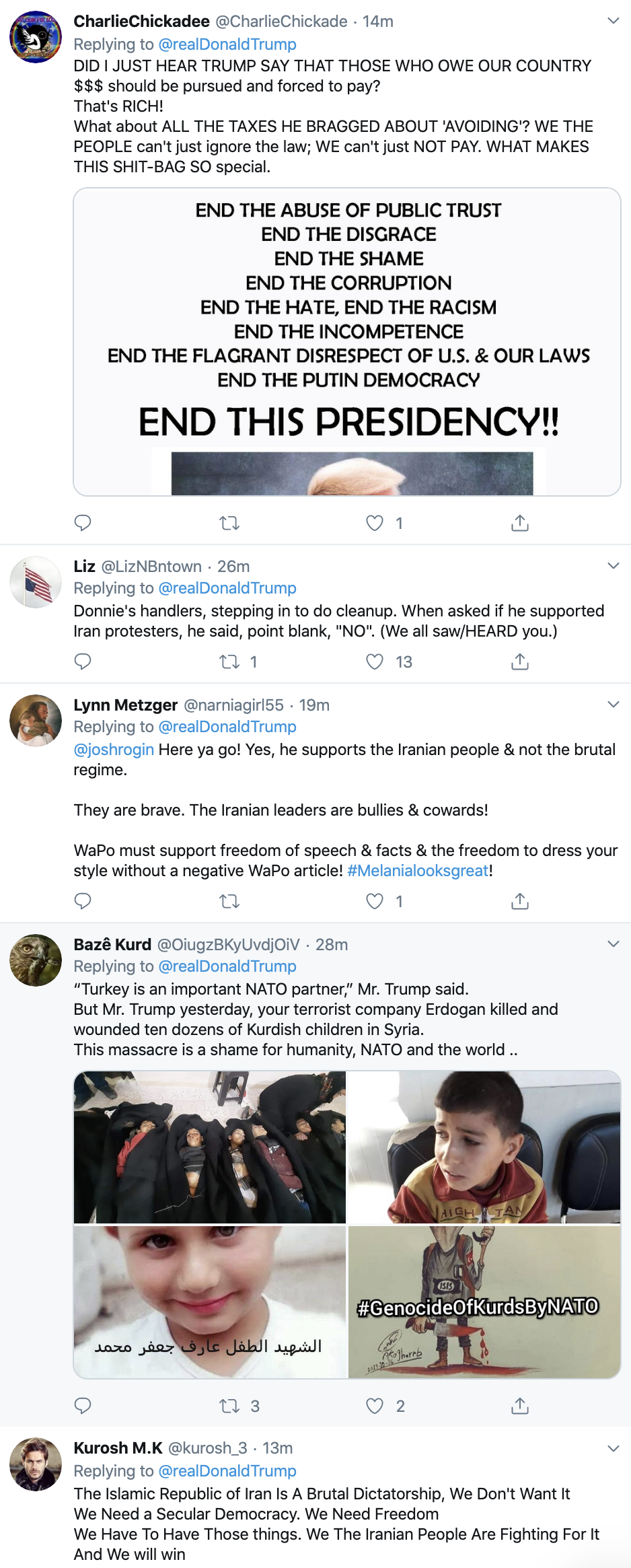 Screen-Shot-2019-12-03-at-10.18.10-AM Trump Taunts Iran On Twitter During Tuesday Boredom Fail Corruption Featured Foreign Policy Impeachment Top Stories