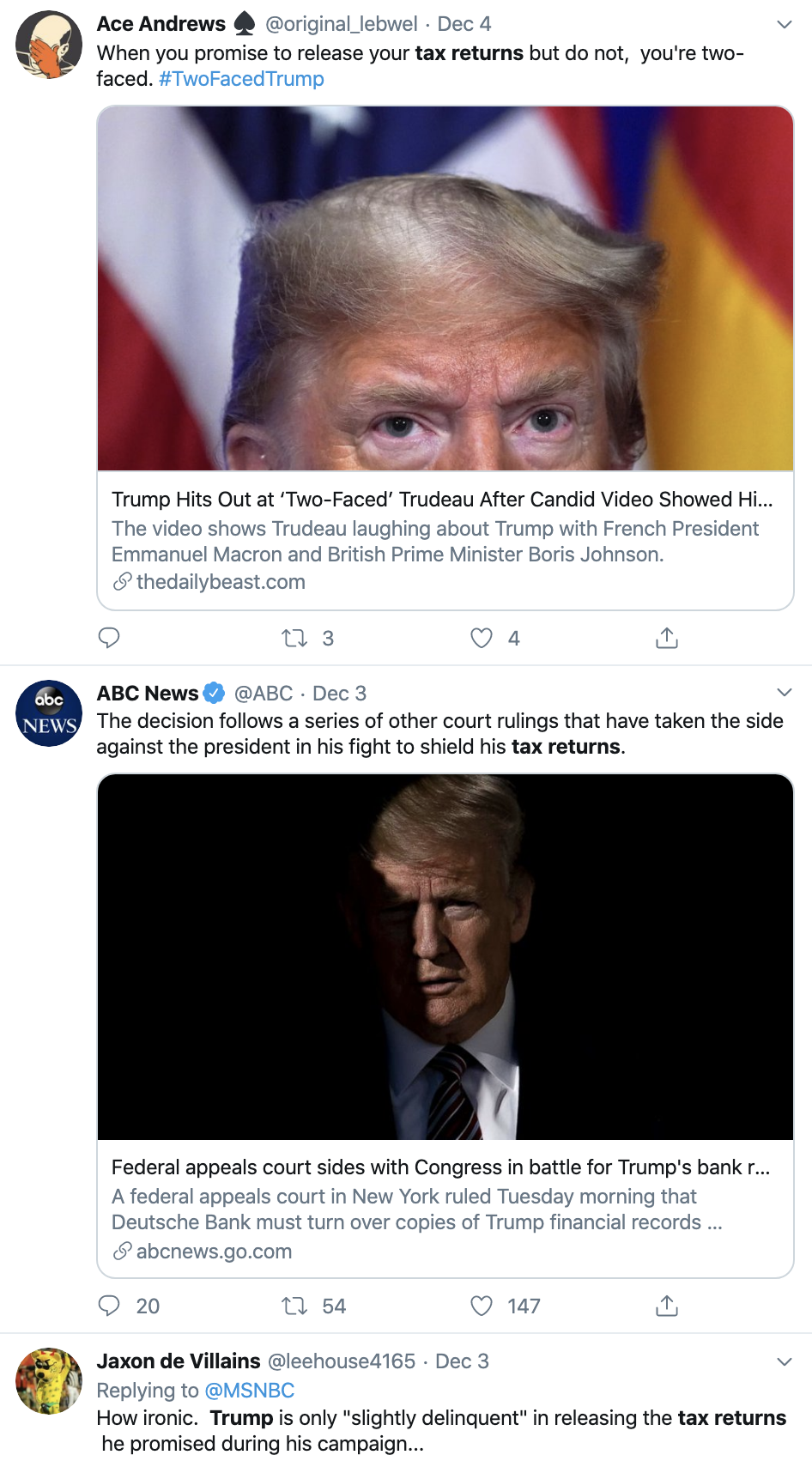 Screen-Shot-2019-12-05-at-1.43.26-PM Trump's Financial Records Case Hits The Supreme Court Corruption Crime Featured Supreme Court Top Stories