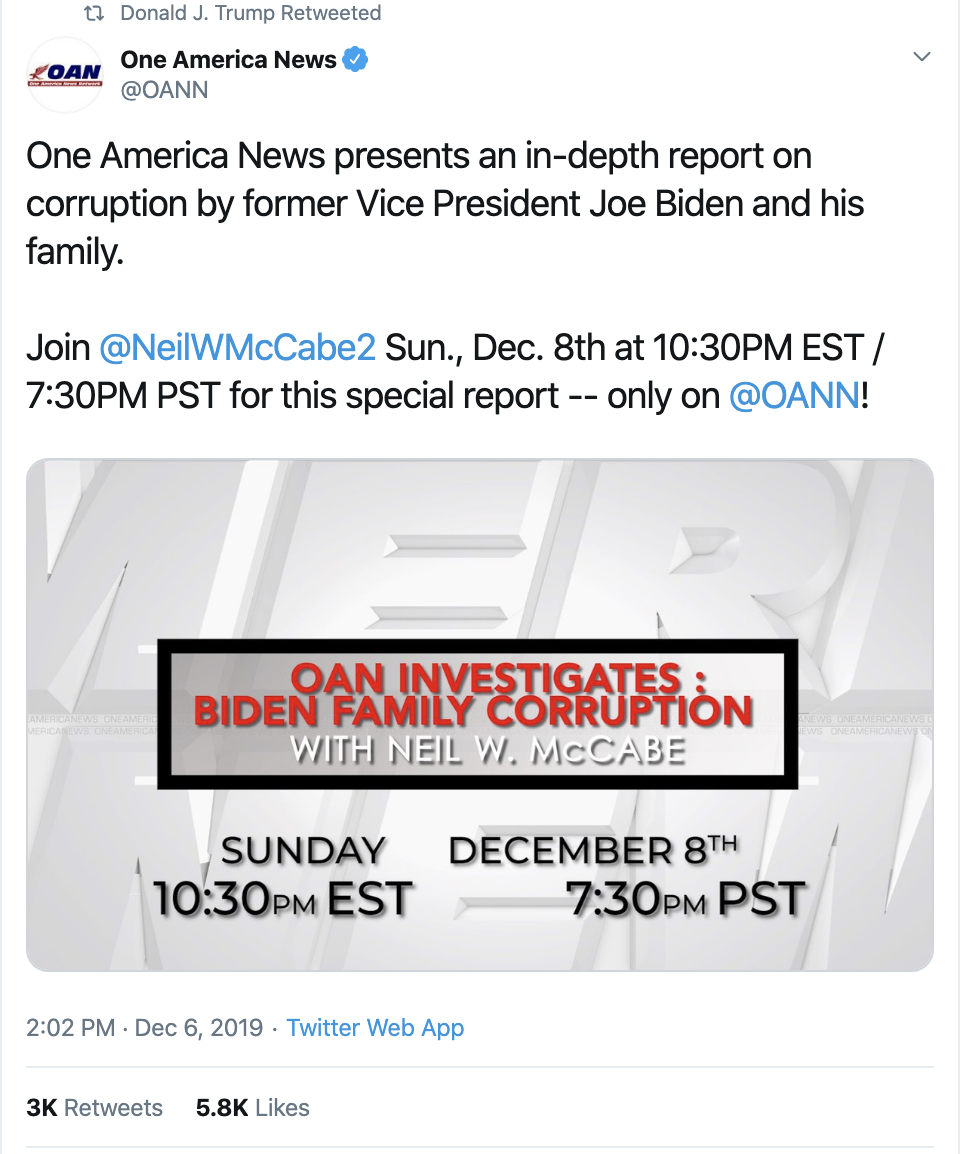 Screen-Shot-2019-12-08-at-10.06.49-AM Trump Has Impeachment Induced Sunday Twitter Freakout Election 2020 Featured Foreign Policy Impeachment Top Stories
