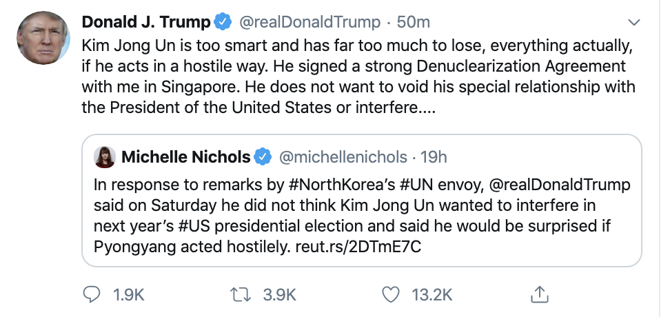 Screen-Shot-2019-12-08-at-10.07.51-AM Trump Has Impeachment Induced Sunday Twitter Freakout Election 2020 Featured Foreign Policy Impeachment Top Stories