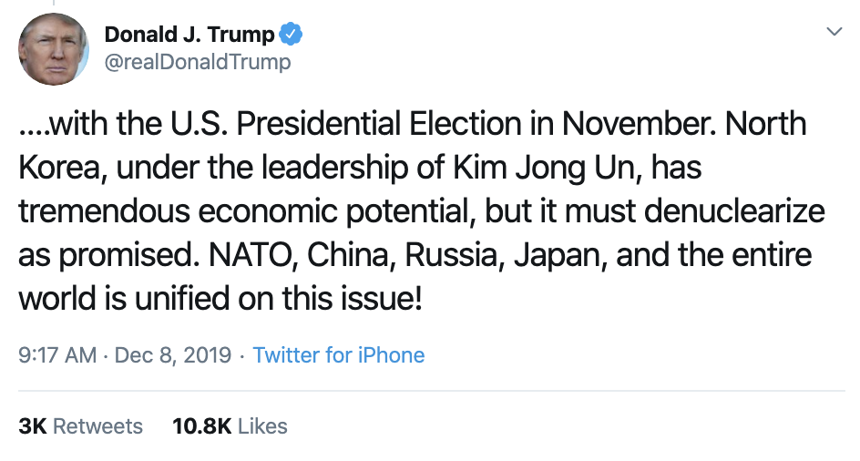 Screen-Shot-2019-12-08-at-10.08.53-AM Trump Has Impeachment Induced Sunday Twitter Freakout Election 2020 Featured Foreign Policy Impeachment Top Stories