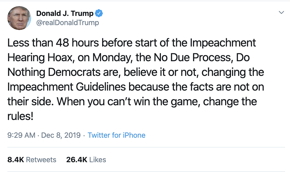 Screen-Shot-2019-12-08-at-10.10.37-AM Trump Has Impeachment Induced Sunday Twitter Freakout Election 2020 Featured Foreign Policy Impeachment Top Stories