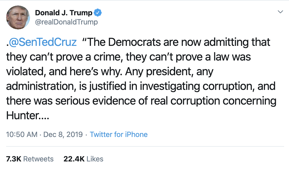 Screen-Shot-2019-12-08-at-12.19.00-PM Trump Has Impeachment Induced Sunday Twitter Freakout Election 2020 Featured Foreign Policy Impeachment Top Stories