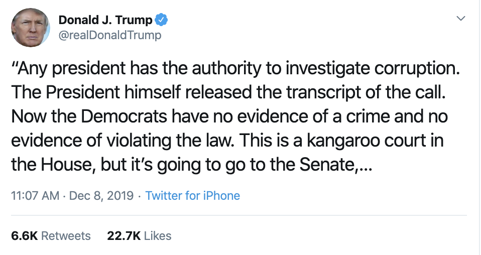 Screen-Shot-2019-12-08-at-12.21.51-PM Trump Has Impeachment Induced Sunday Twitter Freakout Election 2020 Featured Foreign Policy Impeachment Top Stories