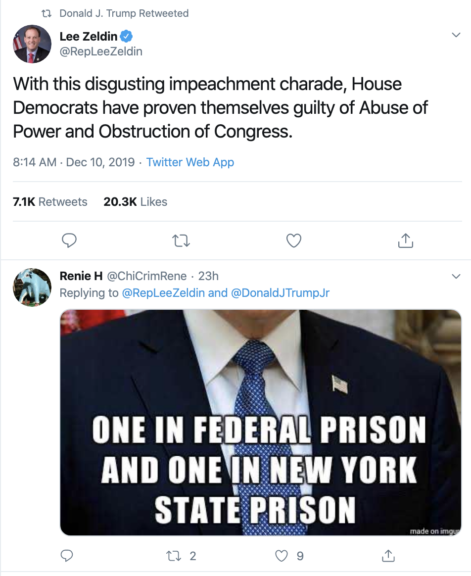 Screen-Shot-2019-12-11-at-8.21.22-AM Trump Tweets 20+ Times During Wednesday Emotional Collapse Corruption Election 2020 Featured Impeachment Top Stories