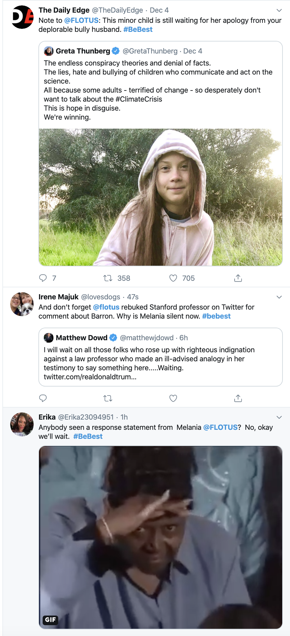 Screen-Shot-2019-12-12-at-1.01.45-PM Melania Trump Publicly Shamed After Trump Attacks Greta Thunberg Celebrities Child Abuse Environment Featured Top Stories