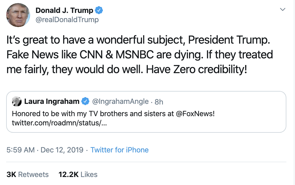 Screen-Shot-2019-12-12-at-7.29.28-AM Trump Rage Tweets Impeachment Induced Thursday Meltdown Election 2016 Featured Impeachment National Security Top Stories