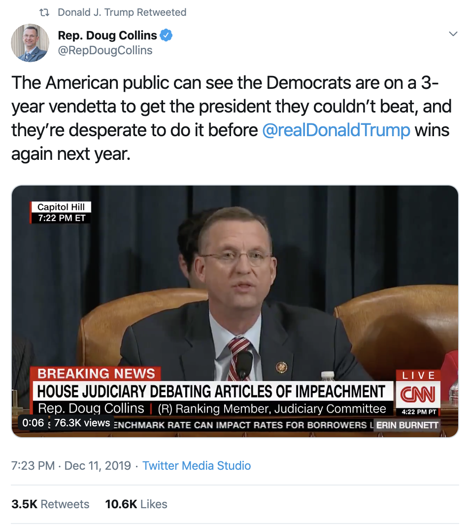 Screen-Shot-2019-12-12-at-7.36.50-AM Trump Rage Tweets Impeachment Induced Thursday Meltdown Election 2016 Featured Impeachment National Security Top Stories