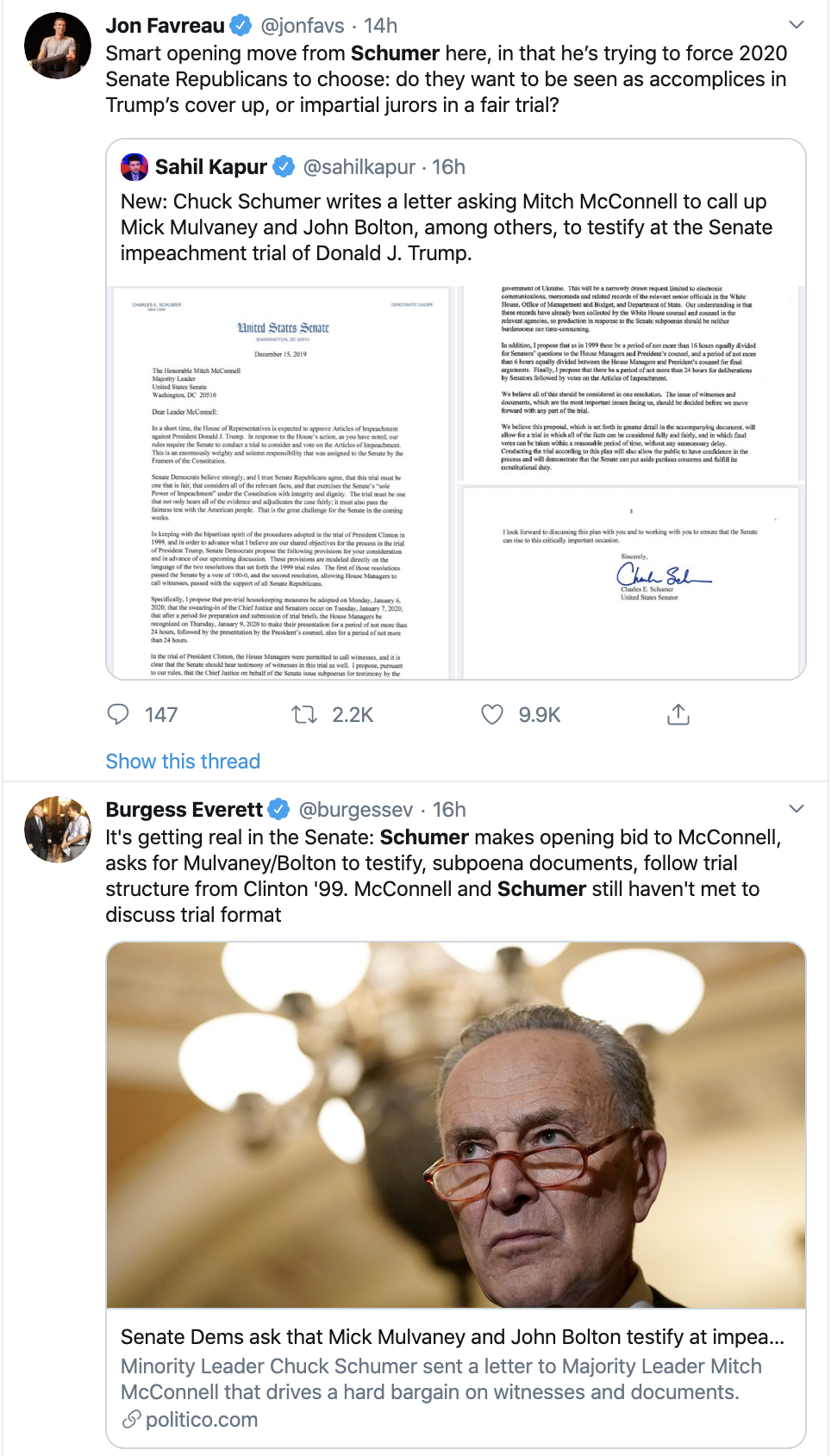 Screen-Shot-2019-12-16-at-10.33.48-AM Schumer Calls Out McConnell For Sinking To Trump's Level Corruption Featured Impeachment Top Stories