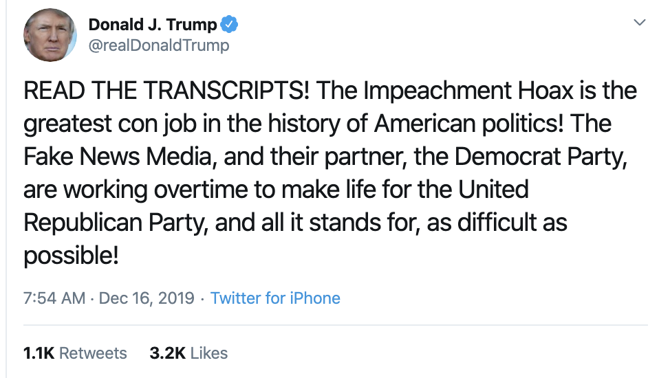 Screen-Shot-2019-12-16-at-7.57.36-AM-1 Trump Delivers Embarrassing Monday Pre-Dawn Twitter Outburst Corruption Economy Featured Impeachment Top Stories
